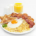 Breakfast Hash Browns Bacon Fried Egg Toast Orange Juice by Colin and Linda McKie