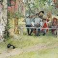Breakfast Under The Big Birch by Carl Larsson