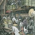 Breaking Bulk On Board A Tea Ship by William Bazett Murray