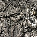 Breaking The Advance.  State Of Delaware Monument Detail-l1 Gettysburg Autumn Mid-day. by Michael Mazaika
