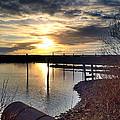 Breakwater Boat Dock Sunset by Chriss Pagani
