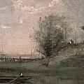 Breakwater, Normandy by Jean Baptiste Camille Corot