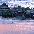 Breakwater Rocks At Sunset Beach Cape May by Eric  Schiabor