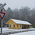 Brecksville Station Snowfall by Clint Buhler