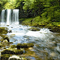 Brecon Waterfall by Robert J Taylor