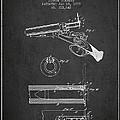 Breech Loading Shotgun Patent Drawing From 1879 - Dark by Aged Pixel