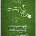 Breech Loading Shotgun Patent Drawing From 1879 - Green by Aged Pixel