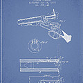 Breech Loading Shotgun Patent Drawing From 1879 - Light Blue by Aged Pixel