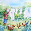 Breezy Day  -great Drying Out by Trudi Doyle