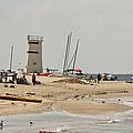 Breezy Point Lighthouse Bayside by Ann Murphy