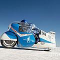 Brett De Stoop On His Suzuki Gt 750 At Speed by Frank Kletschkus