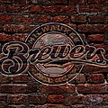 Brewers Baseball Graffiti On Brick  by Movie Poster Prints