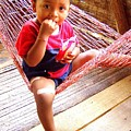Bribri Indian Child In A Hammock by Laurel Talabere