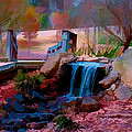 Brick Pond Waterfall by Bill Barber