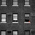Brick Wall And Windows by Jim Shackett