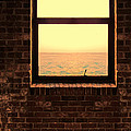 Brick Window Sea View by Jill Battaglia