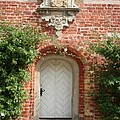 Brickcastle And White Door by Christiane Schulze Art And Photography