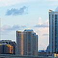 Brickell Key And Miami Skyline by Ed Gleichman