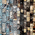 Bricks Of Turquoise And Gold by Stephanie Grant