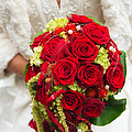 Bridal Bouquet With Red Roses by Matthias Hauser