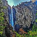 Bridalveil Falls In Yosemite Valley by Bob and Nadine Johnston
