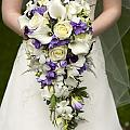 Bride And Wedding Bouquet by Lee Avison