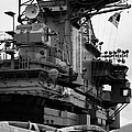 Bridge And Flight Deck Island On The Uss Intrepid New York by Joe Fox