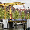 Bridge And Houses On Entrepotdok In Amsterdam by Artur Bogacki