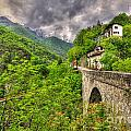 Bridge And Mountain by Mats Silvan