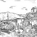 Bridge At Morstar by Robert  Denton
