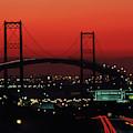 Bridge At Sunset by Peter Essick
