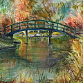 Bridge At The Botanical Gardens by B Rossitto
