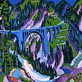 Bridge At Wiesen by Ernst Ludwig Kirchner