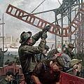 Bridge Construction 1909 by Granger