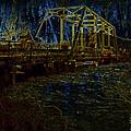 Bridge Crossing C. 1885 Glowing Edges by David Lee Guss