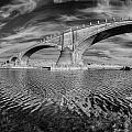 Bridge Curvature In Black And White by Greg Nyquist