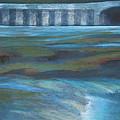 Bridge In Flood Stage by Bonnie Schulte