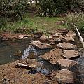Bridge Of Rocks Across The River by Carol Ailles