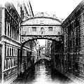 Bridge Of Sighs Pencil by Jenny Hudson