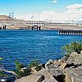 Bridge Over Columbia River At Umatilla-or  by Ruth Hager