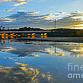 Bridge Over Lake At Sunset Narrabeen Lakes Sydney by Kaye Menner