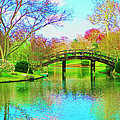 Bridge Over Lake In Spring by Susanna Katherine