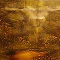 Bridge Over Muddy Waters- Original Sold - Buy Giclee Print Nr 35 Of Limited Edition Of 40 Prints   by Eddie Michael Beck