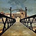 Bridge Over The River Guadalmedina In Malaga. Spain by Jenny Rainbow