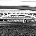 Bridge Panorama Black And White by Phyllis Denton