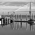 Bridge To Mount Pleasant - Black And White by Jenny Hudson