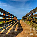 Bridge To The Beach by Karl Greeson