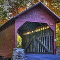 Bridge To The Past Roddy Road Covered Bridge-a1 Autumn Frederick County Maryland by Michael Mazaika