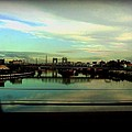 Bridge With White Clouds by Miriam Danar