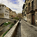Bridges At Darro Street In Historic Albaycin In Granada by Guido Montanes Castillo